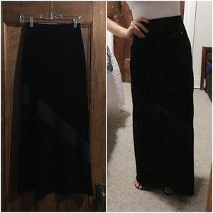 Express black high waist maxi skirt