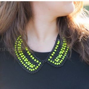 Jewelry - Zara black and neon beaded bib