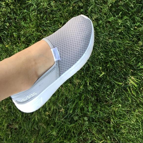 ... adidas shoes sold adidas neo grey slip on shoe comfort foam 7.5 adidas  neo mesh white ...