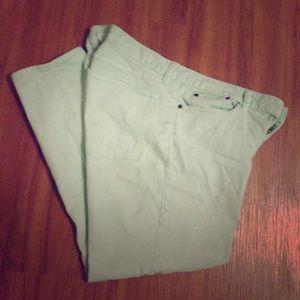 J. Crew toothpick Jean - mint (green)