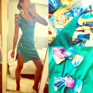 🌟 HANDMADE🌟 Mermaid Print Pin-Up Dress!