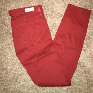 AG Stevie Ankle Burnt Orange Jeans