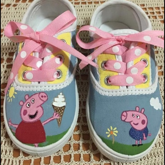 a6d124d2f2ab Peppa Pig customized hand painted shoes