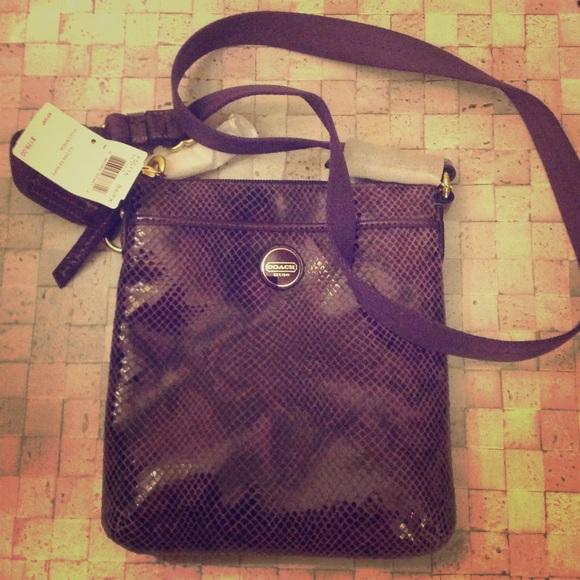 Coach Bags   Purple Alligator Leather Bag   Poshmark 7c46144c17
