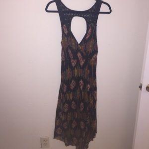Free People boho dress w/ crochet back (Size: M)