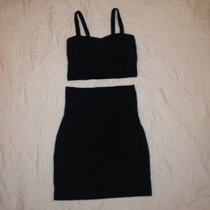 Dresses & Skirts - Black crop top and pencil skirt