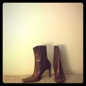 Luichiny Brown Leather Calf Boots