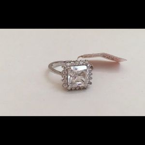 Square Cluster CZ Ring