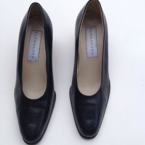Bandolino leather chunky heel pumps shoes 7