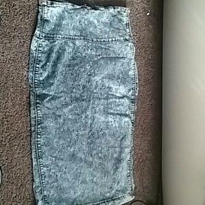 Dresses & Skirts - NWOT Jean/Denim Pencil Skirt