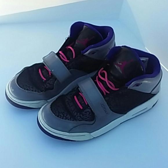 new styles 0abd1 3798c Nike Air Jordan v iv iii Youth 7 Shoes Purple Gray