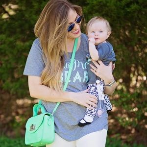 Loved by Hannah & Eli Mama Bear Tee L