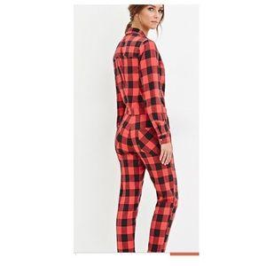 cb585944a905 Forever 21 Pants - Buffalo Plaid Jumpsuit