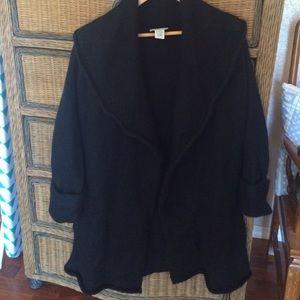 Soft Surroundings Black Cardigan Sweater