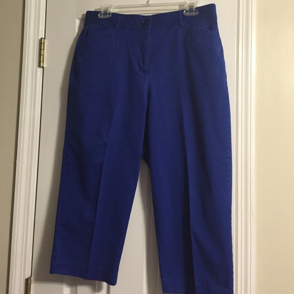 55% off Kim Rogers Pants - Beautiful Royal Blue Capri Pants from ...