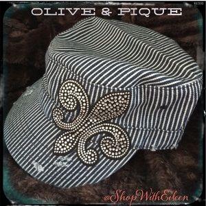 Olive & Pique Accessories - ⭐️🆕 Olive & Pique Blue & White pinstrip cap