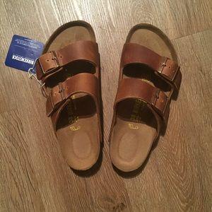 976955478507 Birkenstock Shoes - NIB - Birkenstock Arizona - antique brown - 38