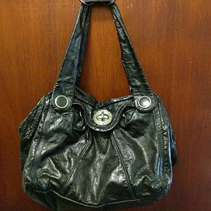 Marc by Marc Jacobs patent black leather bag