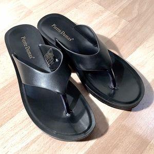 Pierre Dumas Shoes - Pierre Dumas Black Flip Flop Sandals