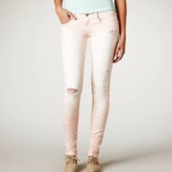 92% off American Eagle Outfitters Denim - Light pink distressed ...