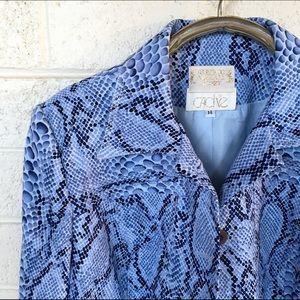 Alberto Makali Jackets & Blazers - Alberto makali snake print  jacket