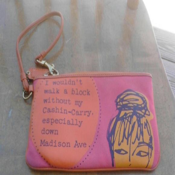 db121efd194fd Coach Handbags - ⏰Coach wristlet pink /orange Cashin carry Madison