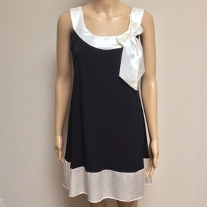 My Michelle Dresses & Skirts - Black and White Ribbon Dress