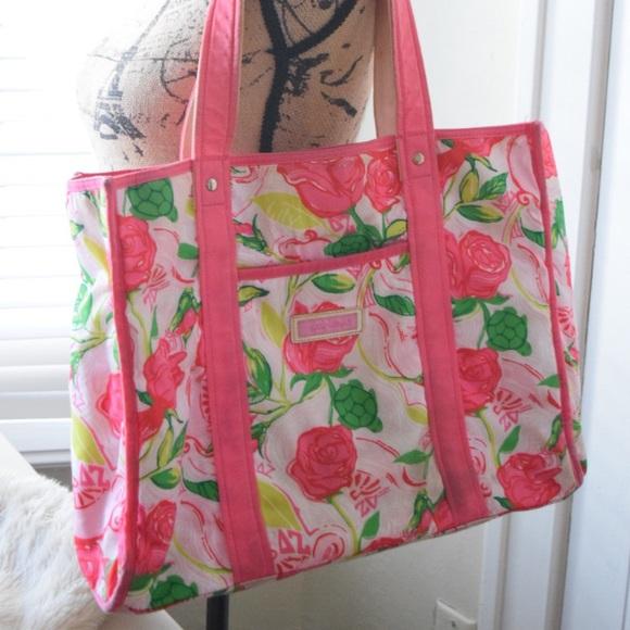 cc72196a2e0685 Lilly Pulitzer Handbags - Delta Zeta Sorority Lilly Pulitzer Tote Bag