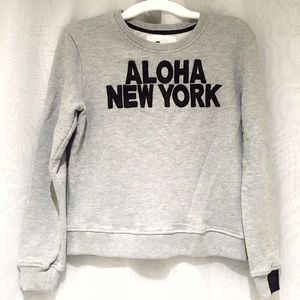 Aiko Tops - Aiko Giacomo ALOHA NEW YORK Grey Sweatshirt