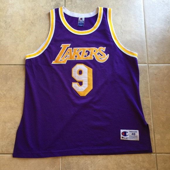 Nick Van Exel Lakers Authentic Champion Jersey