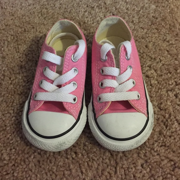 Converse - Baby girl pink converse sneakers size 4 from ...