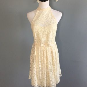 Nwot Free People lace mini dress