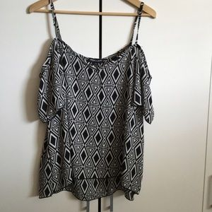 About A Girl Off The Shoulder Tribal Print Top