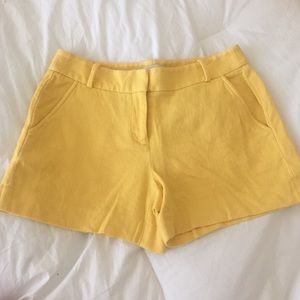 Loft Yellow Dress Shorts