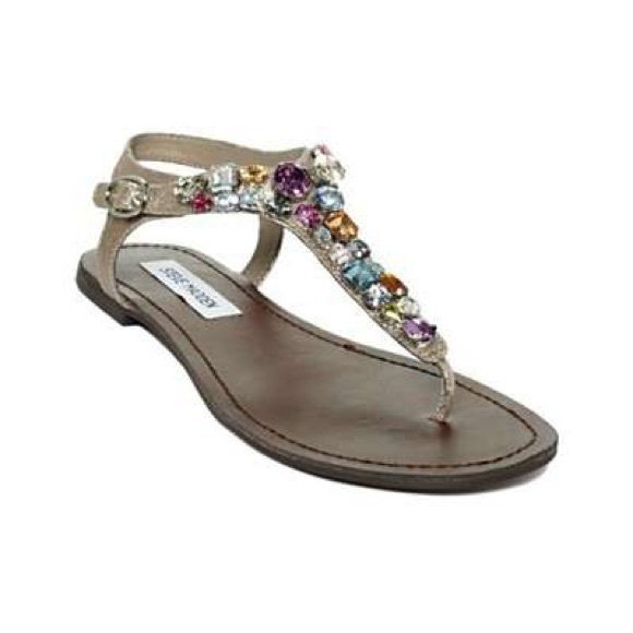 54cfa3be0b2 Multi colored jeweled Steve Madden sandals