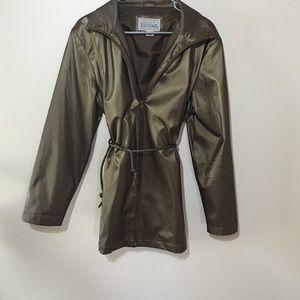 Rain coat Matalic brown
