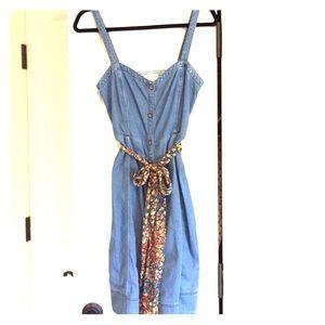 Anthropologie Pilcro Rise N Shine Denim Dress