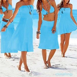 Four way dress/skirt in blue
