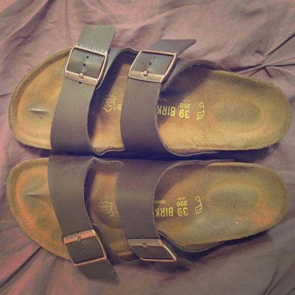 59c21b452cd8 Birkenstock Shoes -  On Hold til Friday  Arizona Dark Brown Birko-Flor