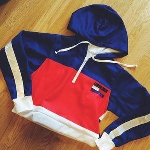1f83d4565d2 Tommy Hilfiger Shirts & Tops | Baby Girl Crop Hoodie | Poshmark