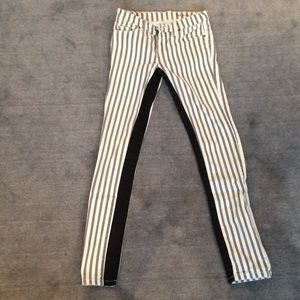 Blank Denim Denim - Black and White Striped Jeans