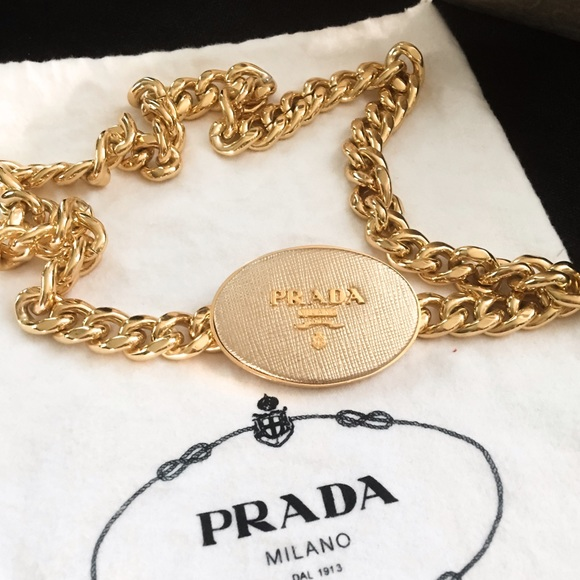 gold signed pin goldvintageswag versace chain necklace authentic by