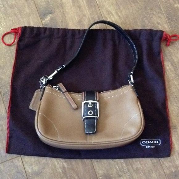 Coach Handbags - Coach Mini Leather Handbag w/ Dust Bag