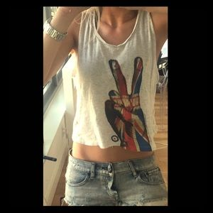 Tops - Cropped Rolling Stones Tank $5