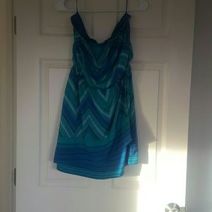 Blue and green express dress