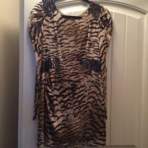 Madison Marcus tiger print mini dress