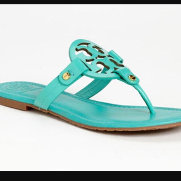 1ac61d544691f Turquoise Tory Burch Miller Sandals. M 571572119c6fcf802a0016cb