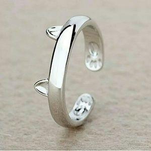 Cat Ear Silver Ring