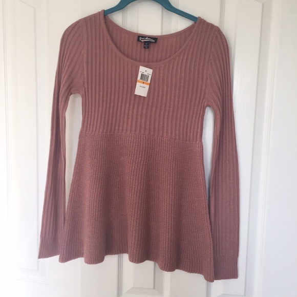63% off Freshman Tops - Long sleeve dusty pink sweater from Jen's ...