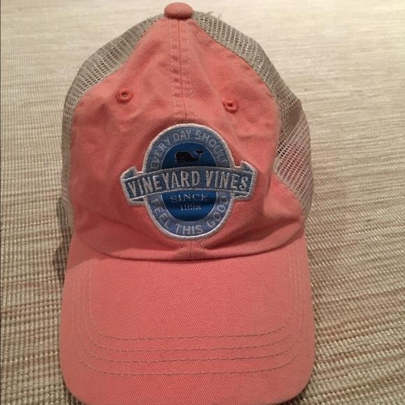Vineyard Vines Coral Patch Trucker Hat
